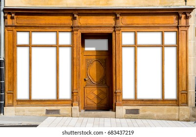 Vintage Shop Windows and Entrance