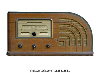 A vintage shortwave radio from the late 1930's.