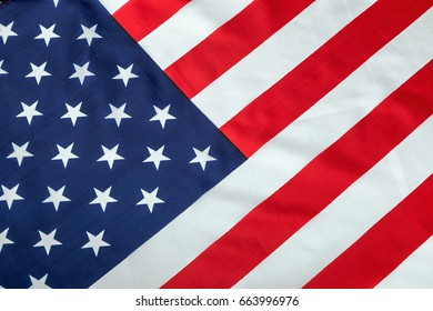 vintage silk American flag Close up background decorate