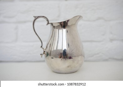 vintage silver creamer for home ware or antique shop