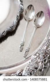 vintage silver ware for kitchen