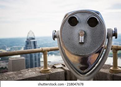 Vintage skyline binoculars