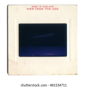 Vintage Slide film mount isolated on a white background