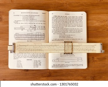 Vintage slide rule Keuffel&Esser 4070 and manual. Collecting slide rules, Miami February 2, 2019