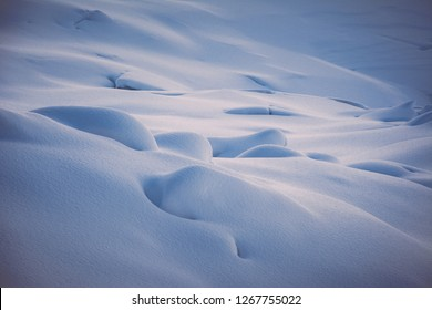 vintage snow drifts background, italian Alps. Gran Paradiso National Park