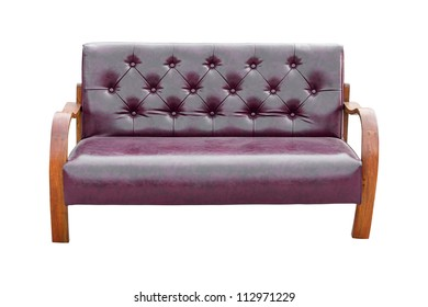 Vintage sofa isolated on white background