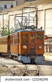 Vintage Soller train in Majorca (Spain)