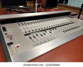 Vintage Sound Recording Mixing Board