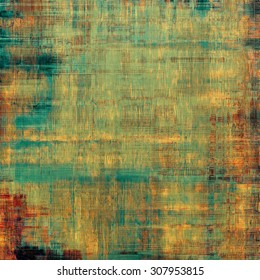 Vintage spotted textured background. With different color patterns: yellow (beige); brown; red (orange); cyan