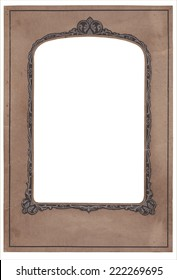 vintage stained old art deco studio photo frame