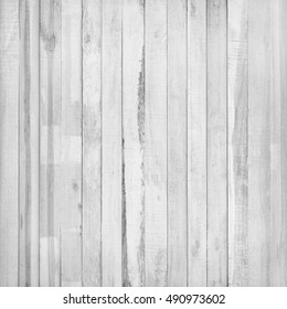 Vintage stained wooden white wall , Wood plank gray background texture