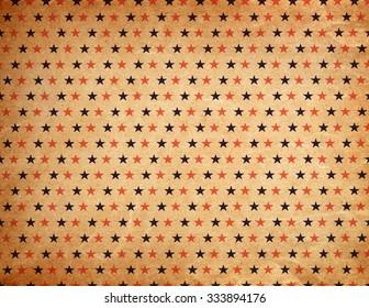 Vintage star pattern, old paper texture