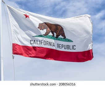 Vintage State Flag of California, USA