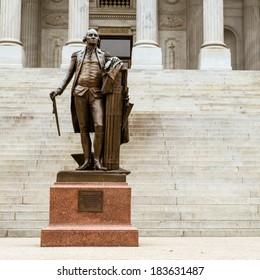 Vintage statue of Georgia Washington at South Carolina Statehouse