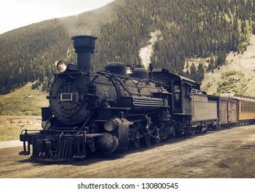 Vintage Steam Engine -Train
