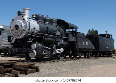 Vintage Steam Locomotive on Display