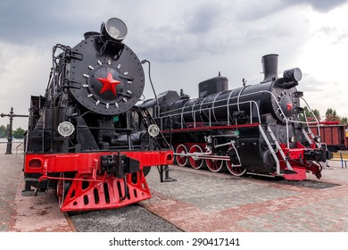 vintage steam train standing on the platform