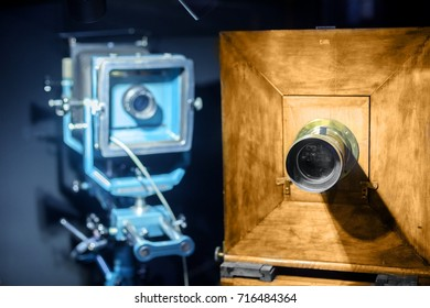 Vintage steel and wooden camera