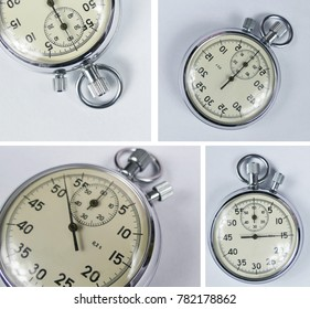 Vintage stopwatch Collage