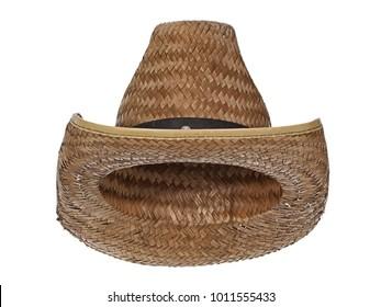bce4b0364b3 Vintage straw latin american cowboy hat
