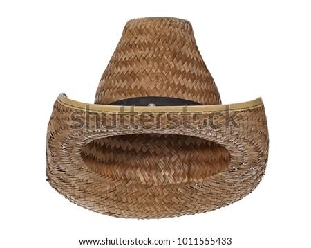 d5ac1c060f6cf Vintage Straw Latin American Cowboy Hat Stock Photo (Edit Now ...