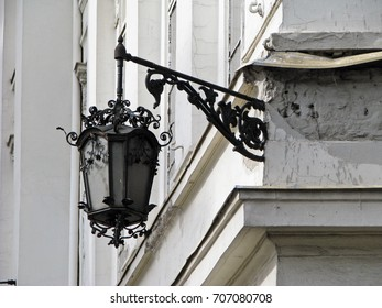 Vintage street lamp in Budapest, Hungary