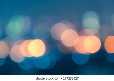 Vintage style abstract blur bokeh light. Defocused  background.