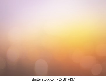 Vintage style, Bokeh sunlight with abstract blur orange city on light of sunset background