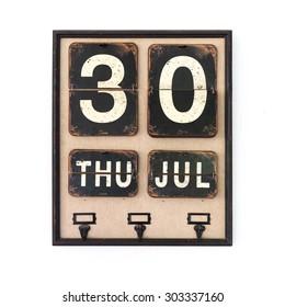 vintage style calendar