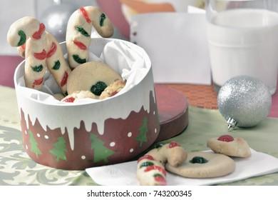 Vintage style christmas cookies