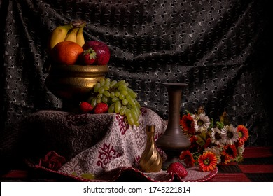 vintage style fruits still life photography