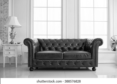 Awesome 1000 Black Leather Couch Stock Images Photos Vectors Pabps2019 Chair Design Images Pabps2019Com