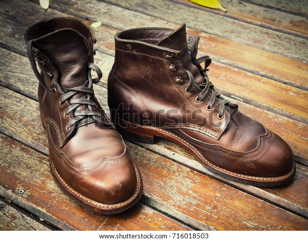 Vintage Style Leather Shoes Old Leather