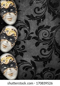 Vintage style masquerade background