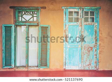 Vintage Style Old House Interior Door Stock Photo Edit Now