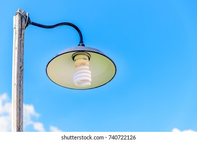Vintage style Older Lamp with Blue Sky