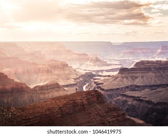 Vintage Style Picture of the Grand Canyon in the USA