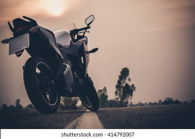 Vintage style racer motorcycle