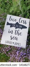 vintage style wedding sign personalised