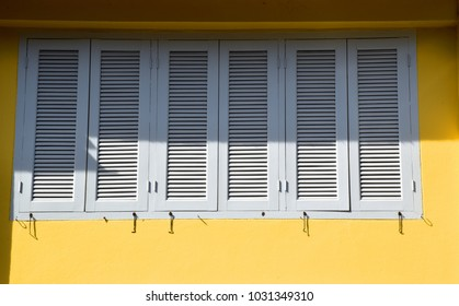 Vintage style windows in Old Town of Phuket, Thailand