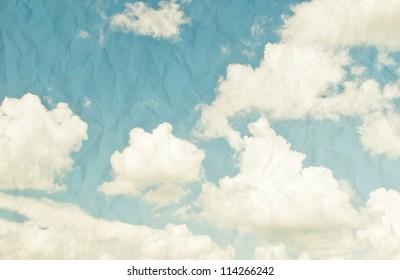 vintage styled sky paper background