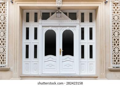 Vintage styled white door