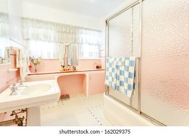 Vintage stylish bathroom toilet