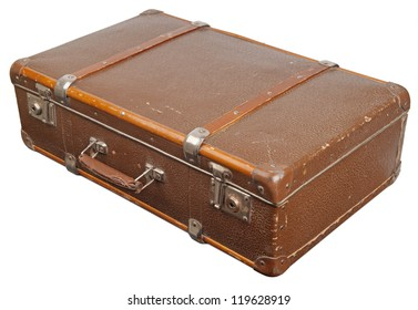 Vintage suitcase. Clipping path included.