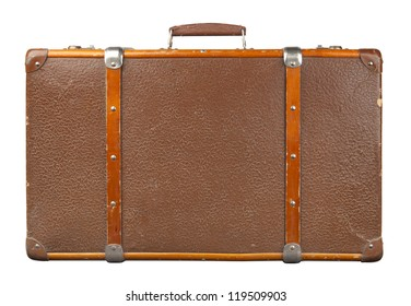 Vintage suitcase isolated.