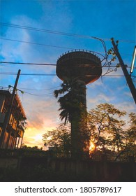 A vintage sunset at watertank
