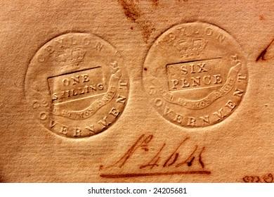 vintage symbol on old paper