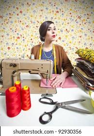 vintage tailor dressmaker, old fashion style