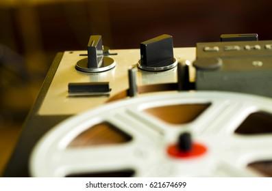 Vintage Tape Recorder Roller
