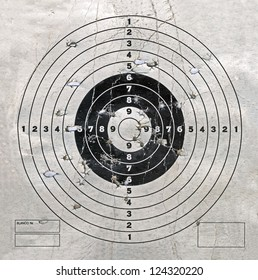 vintage target with hole heap, military details